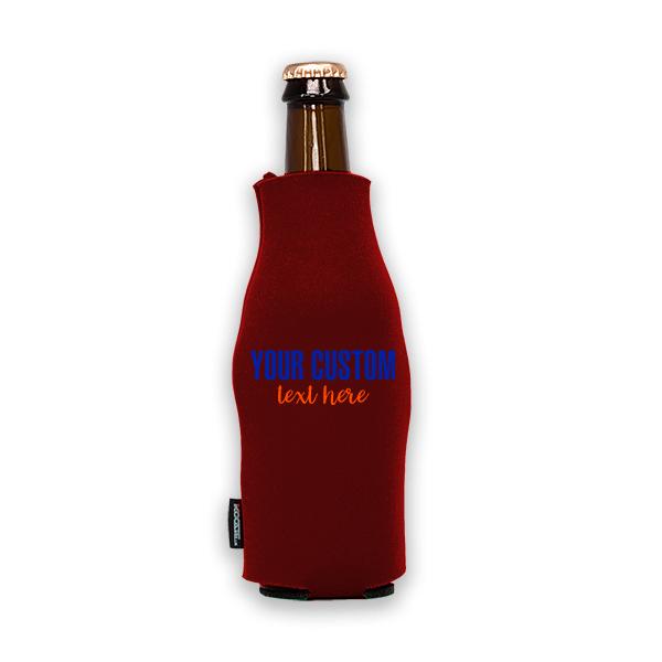 Koozie? Sport Custom Foam Zip-Up Bottle Cooler | 1 Side