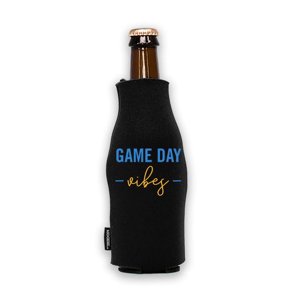 Koozie? Game Day Vibes Foam Zip-Up Bottle Cooler   1 Side