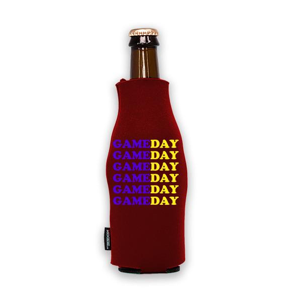 Koozie? Game Day Custom Foam Zip-Up Bottle Cooler | 1 Side