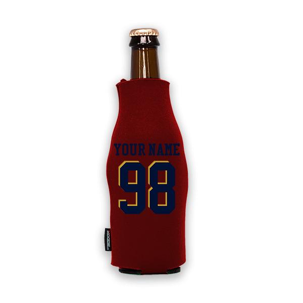 Koozie? Custom Name and Number Foam Zip-Up Bottle Cooler | 1 Side