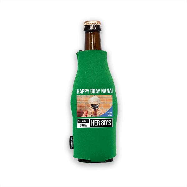 Koozie® Custom Photo Straight Outta Foam Zip-Up Bottle Cooler | 1 Side