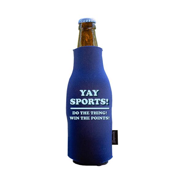 Koozie? Yay Sports Foam Zip-Up Bottle Cooler | 1 Side