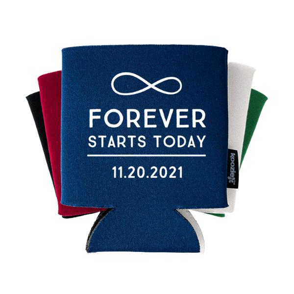 Forever Starts Today Wedding Koozie®