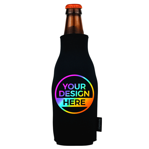 Koozie® Bulk Foam Zip-Up Bottle Cooler | Full Color 1 Side