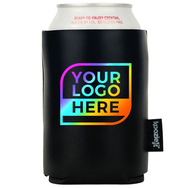 Koozie® Bulk Logo Vegan Leather Can Cooler | Full Color 2 Sides