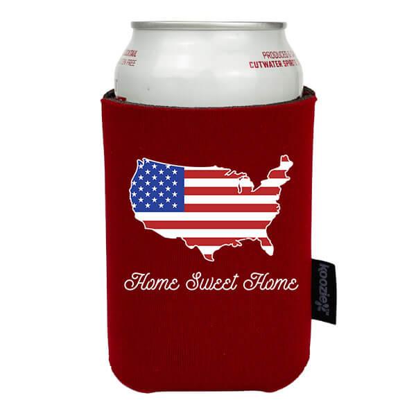 Koozie® Home Sweet Home Patriotic Drink Cooler