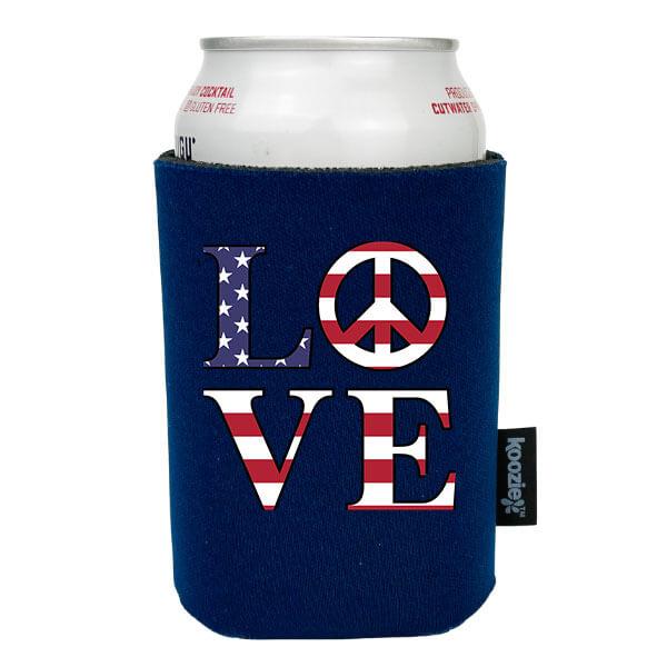 Koozie® Love & Peace Patriotic Drink Cooler