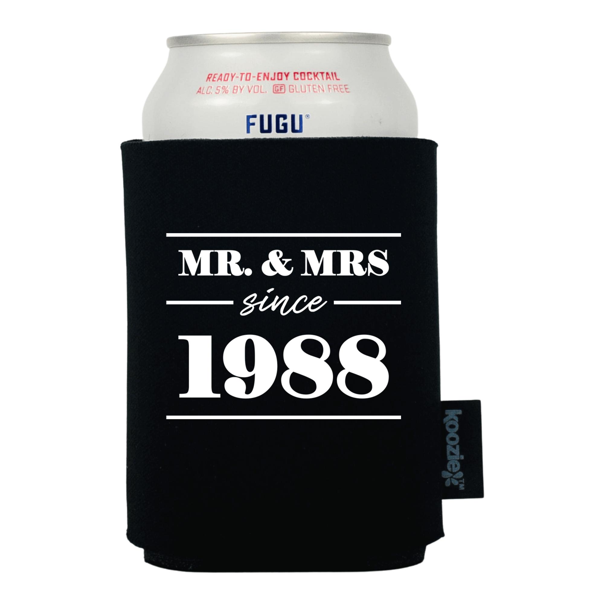 Koozie® Mr & Mrs Since Anniversary Drink Cooler