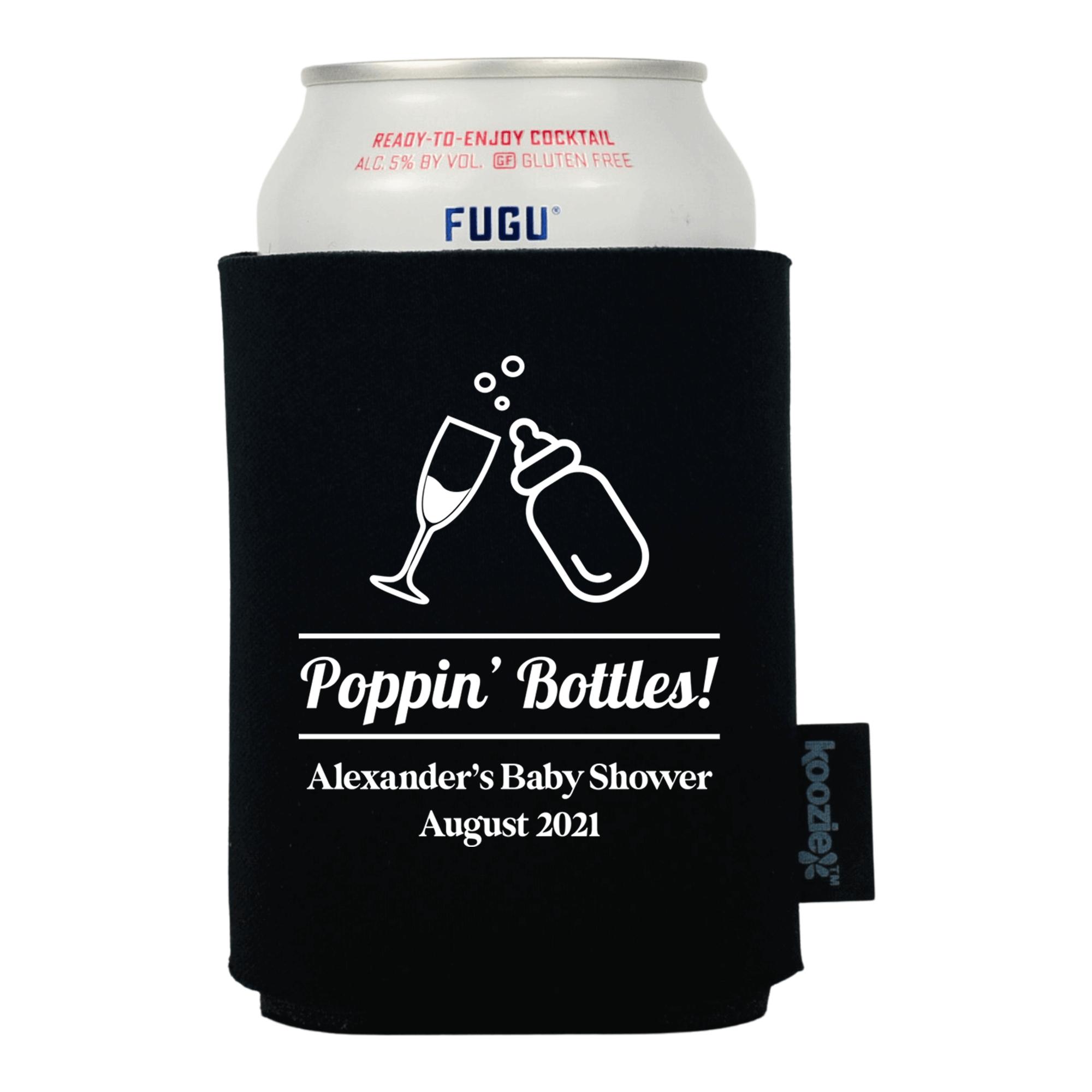Koozie® Poppin Bottles Baby Shower Drink Cooler
