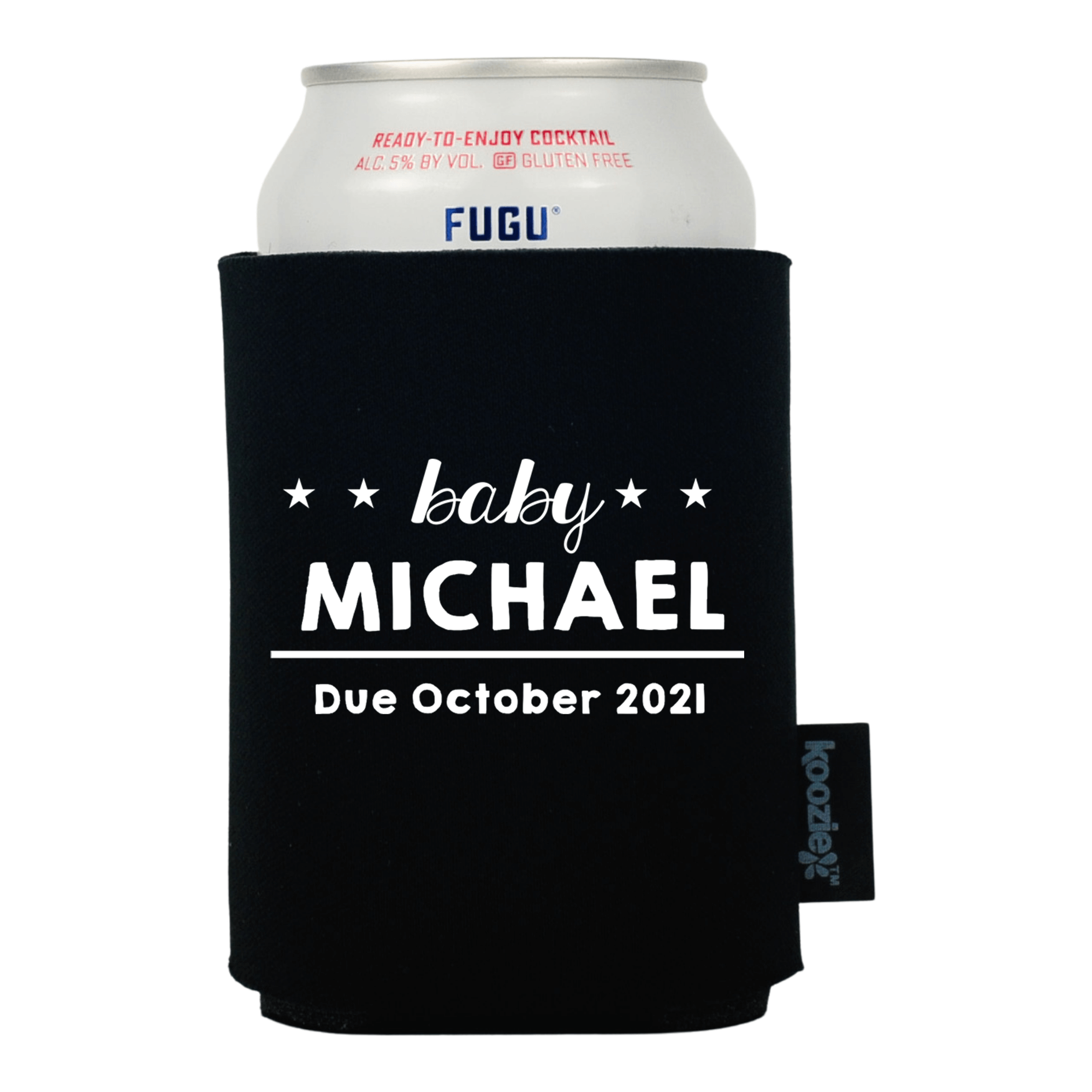 Koozie® Baby Name with Stars Baby Shower Drink Cooler