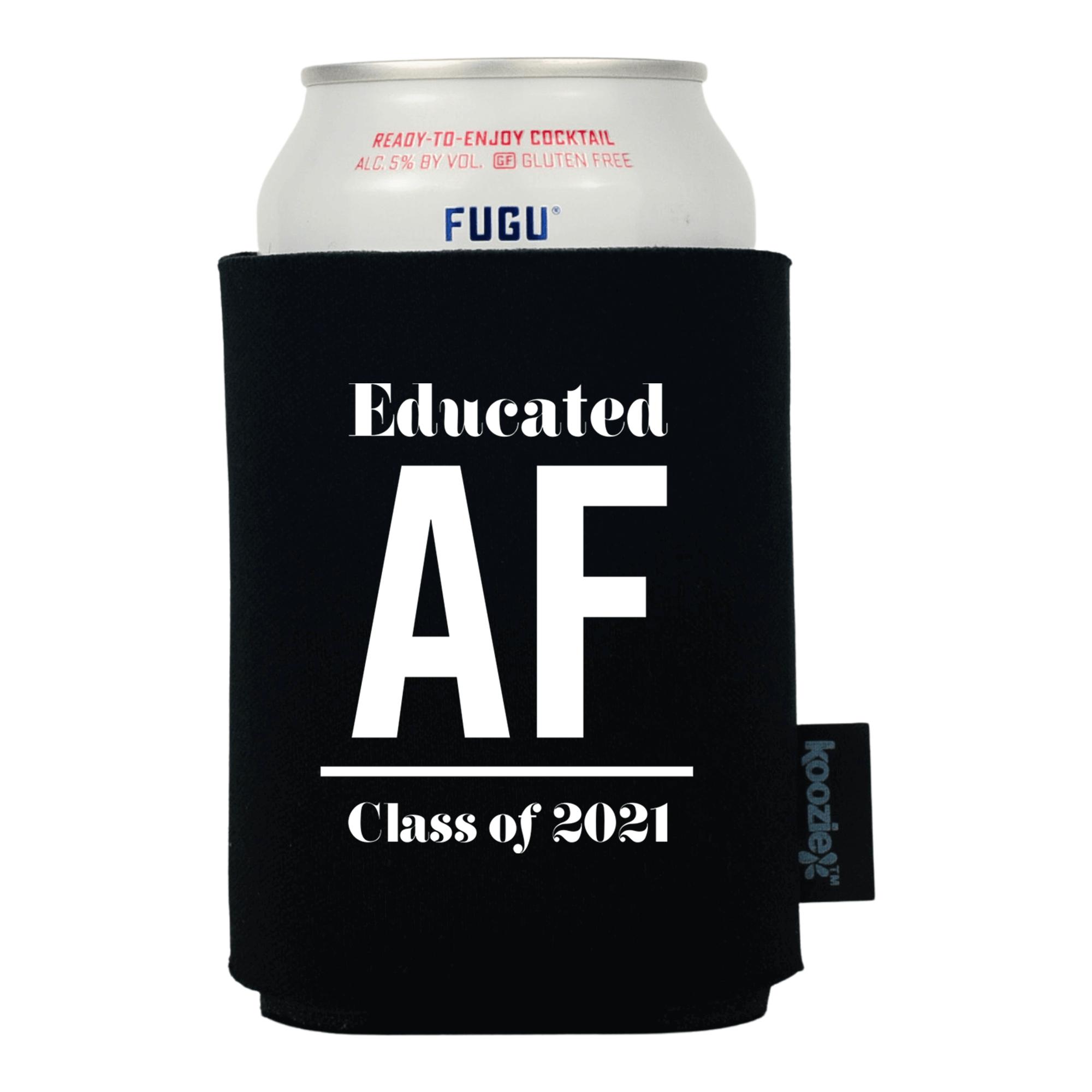 Koozie® Shadowed Text Graduation Drink Cooler