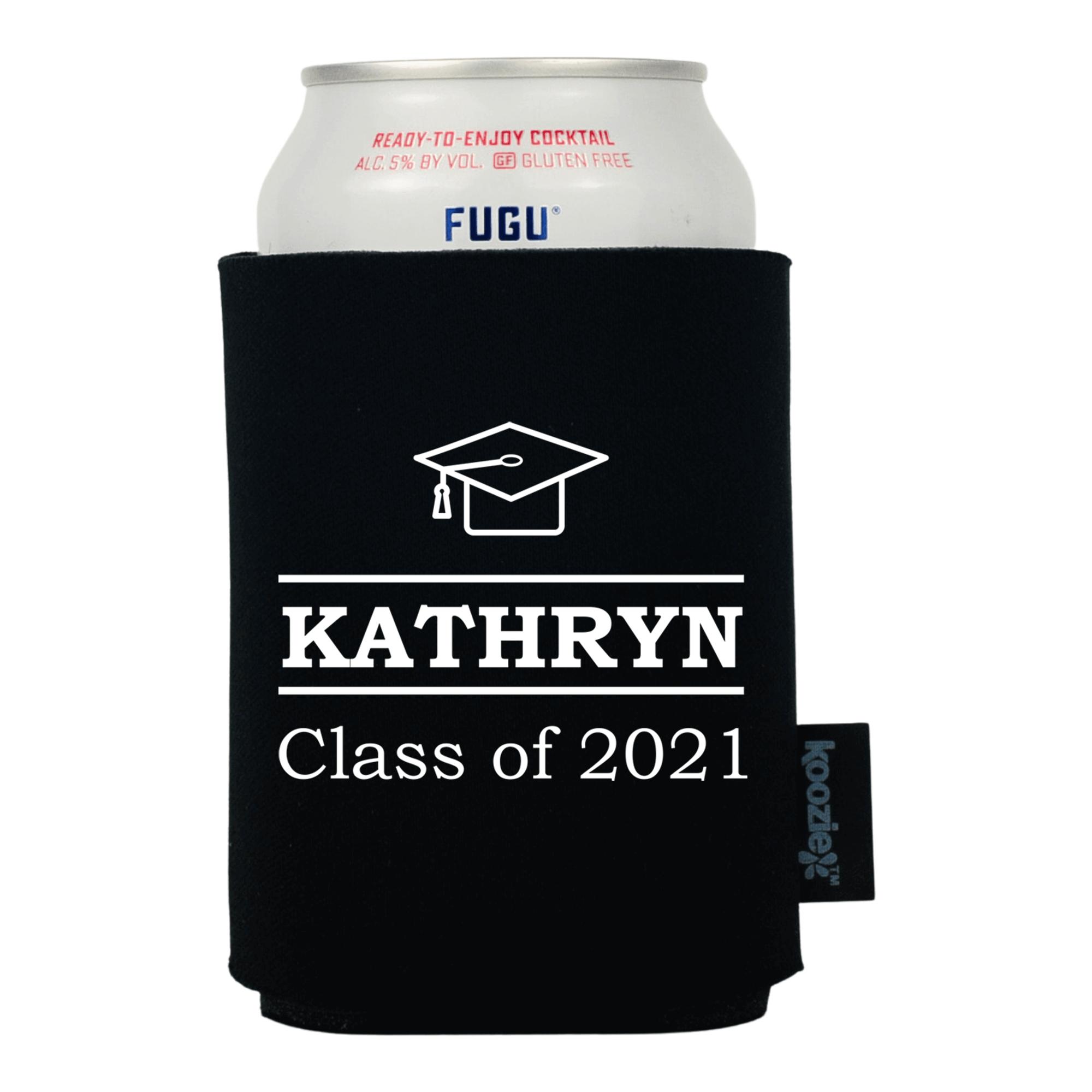 Koozie® Custom Minimal Name Graduation Drink Cooler
