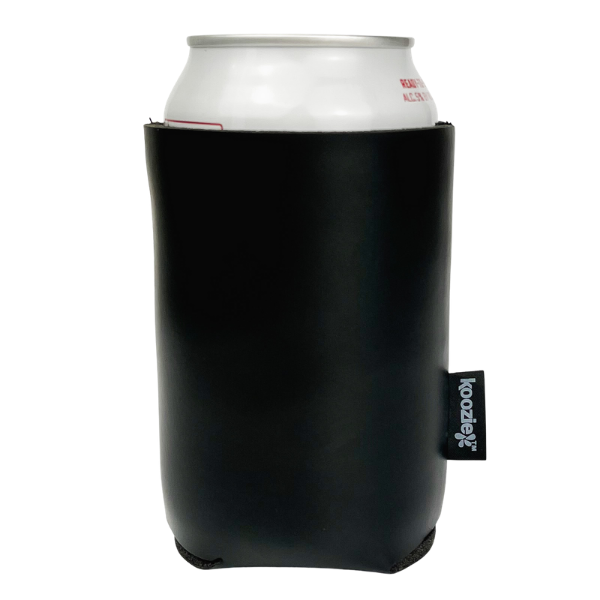 Blank KOOZIE Deluxe Collapsible Can Kooler Faux Leather