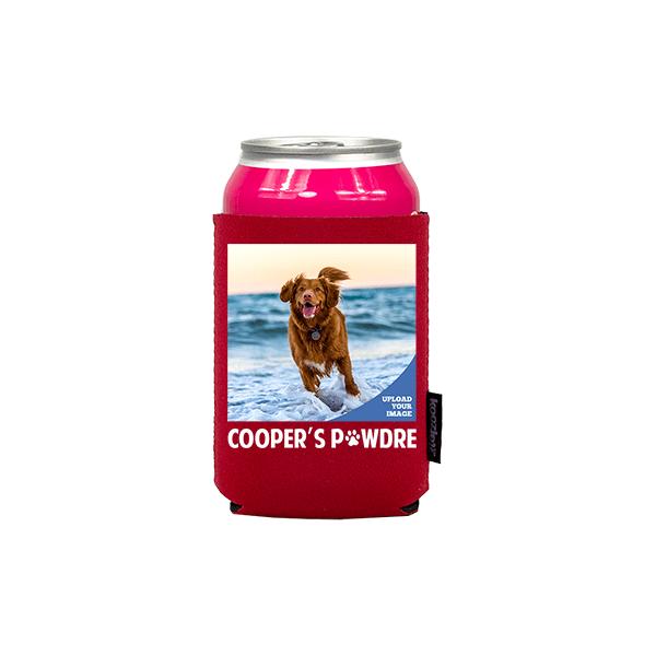 Koozie® Custom Photo Pawdre Neoprene Can Cooler | 1 Side