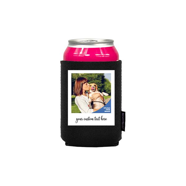 Koozie® Custom Photo Polaroid Neoprene Can Cooler | 1 Side