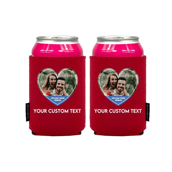 Koozie® Custom Photo Heart Neoprene Can Cooler | 2 Sides