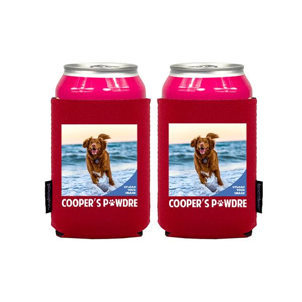 Koozie® Custom Photo Pawdre Neoprene Can Cooler   2 Sides
