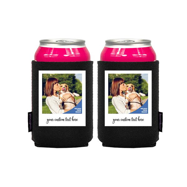 Koozie® Custom Photo Polaroid Neoprene Can Cooler   2 Sides