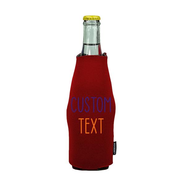 Koozie? Team Custom Neoprene Zip-Up Bottle Cooler   1 Side