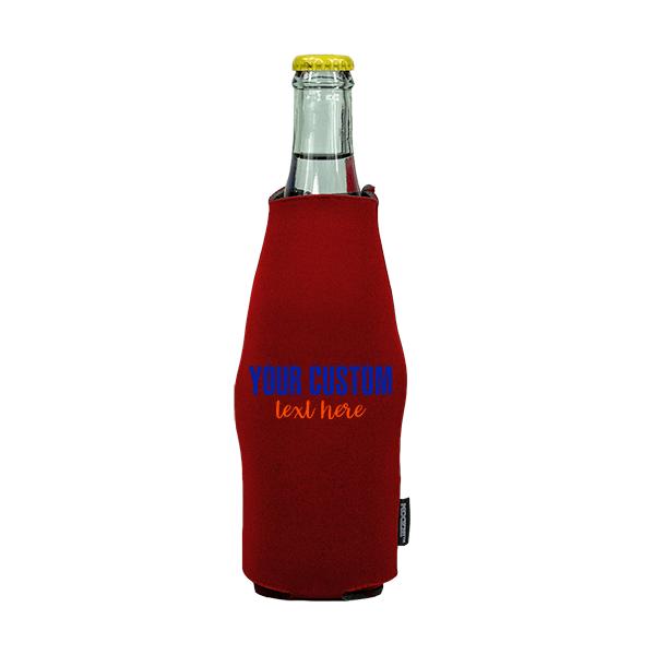 Koozie? Sport Custom Neoprene Zip-Up Bottle Cooler | 1 Side