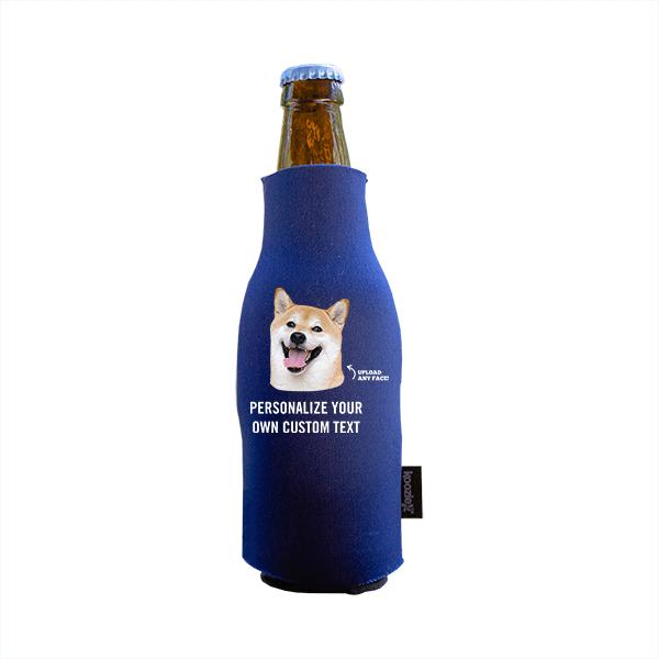 Koozie® Custom Photo Custom Face Neoprene Zip-Up Bottle Cooler   1 Side
