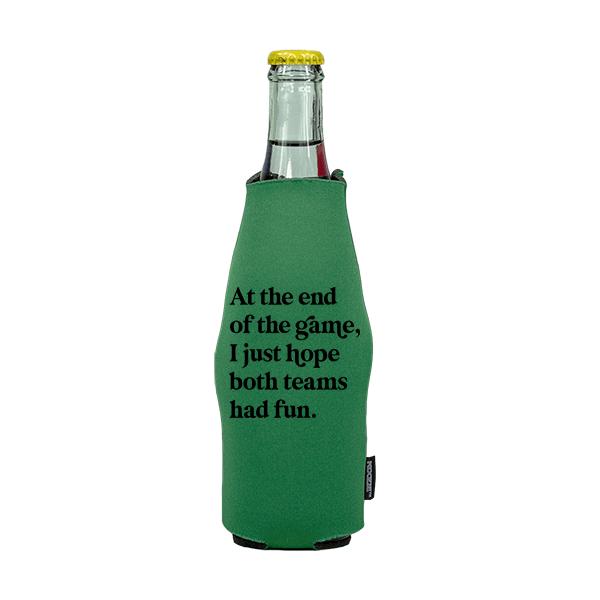 Koozie? Both Teams Had Fun Neoprene Zip-Up Bottle Cooler   1 Side