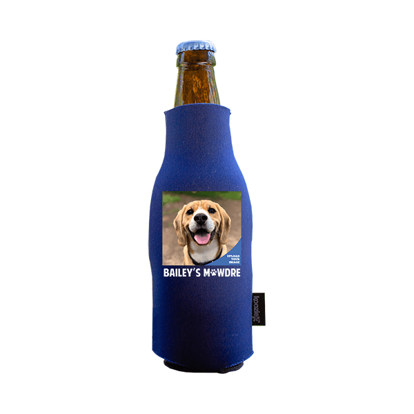 Koozie® Custom Photo Mawdre Neoprene Zip-Up Bottle Cooler | 1 Side