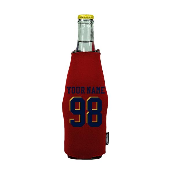Koozie? Custom Name and Number Neoprene Zip-Up Bottle Cooler   1 Side
