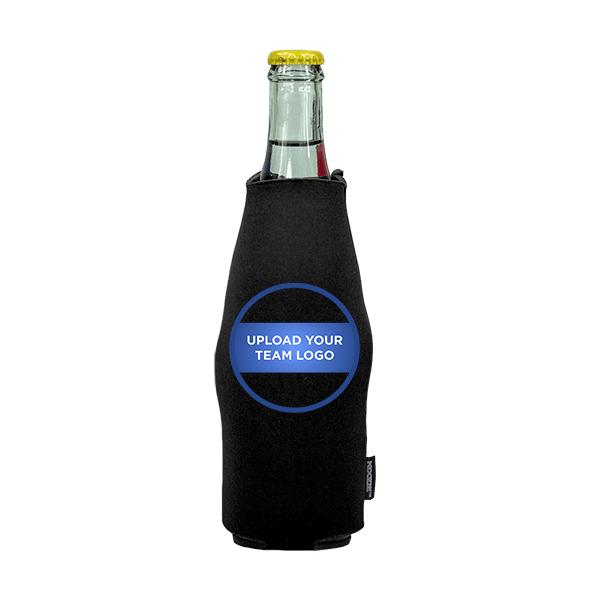 Koozie? Team Logo Custom Neoprene Zip-Up Bottle Cooler | 1 Side