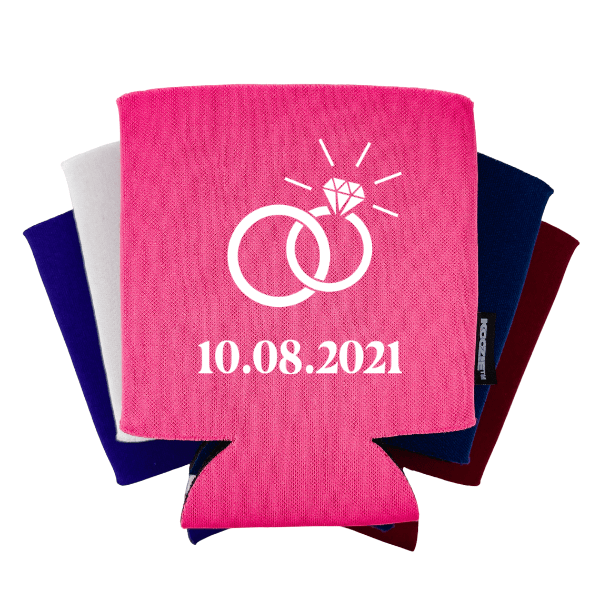 Ring with Date Bridal Shower Koozie®