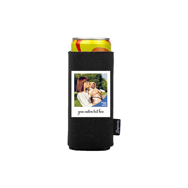 Koozie® Custom Photo Polaroid Slim Can Cooler   1 Side