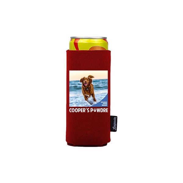 Koozie® Custom Photo Pawdre Slim Can Cooler   1 Side