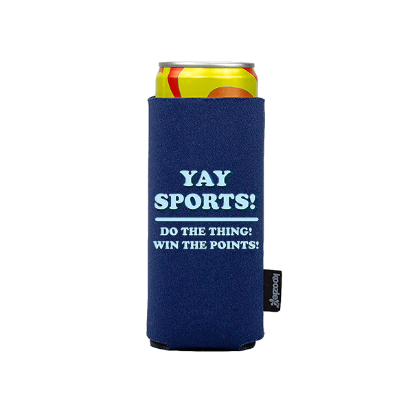 Koozie? Yay Sports Slim Can Cooler | 1 Side