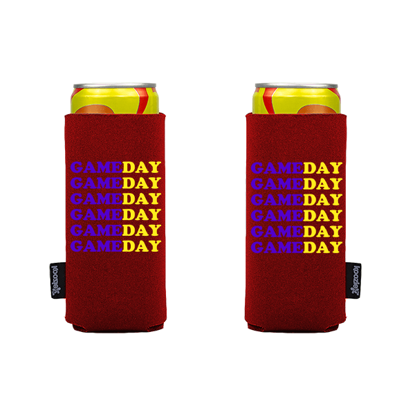 Koozie? Game Day Custom Slim Can Cooler | 2 Sides