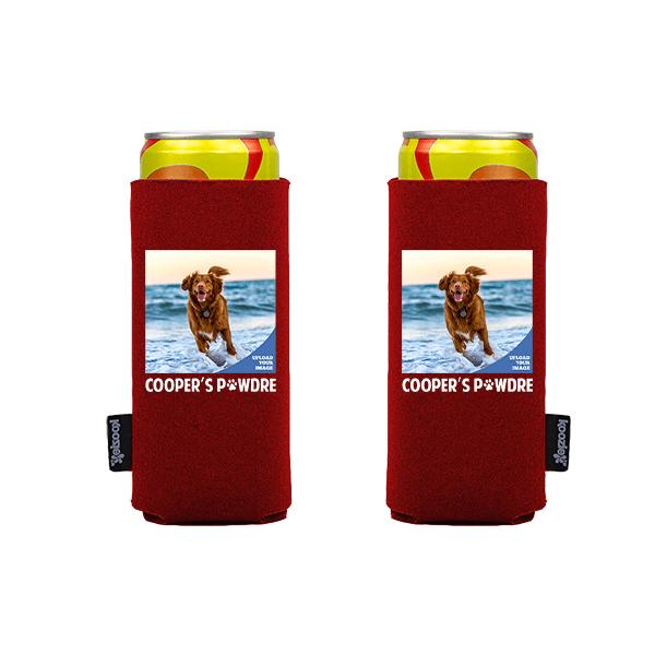 Koozie® Custom Photo Pawdre Slim Can Cooler | 2 Sides
