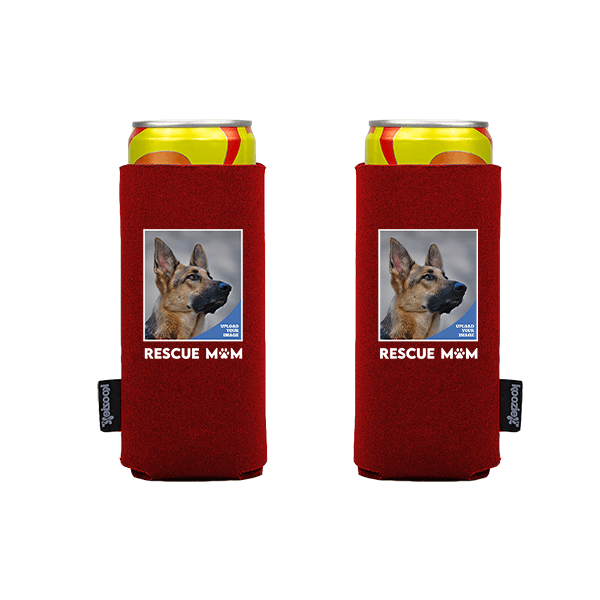 Koozie® Custom Photo Rescue Mom Slim Can Cooler | 2 Sides