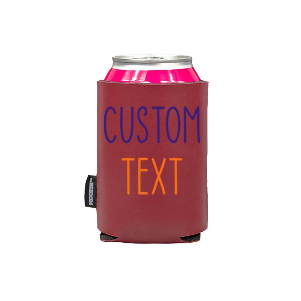 Koozie? Team Custom Vegan Leather Can Cooler   1 Side