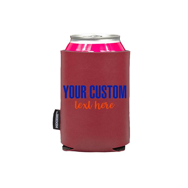 Koozie? Sport Custom Vegan Leather Can Cooler   1 Side