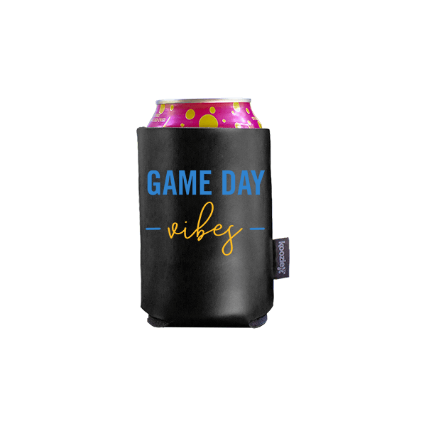 Koozie? Game Day Vibes Vegan Leather Can Cooler | 1 Side