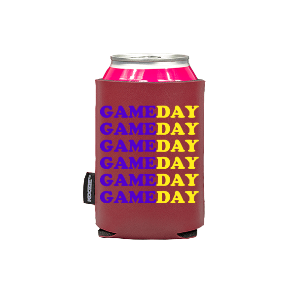 Koozie? Game Day Custom Vegan Leather Can Cooler | 1 Side