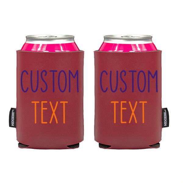 Koozie? Team Custom Vegan Leather Can Cooler | 2 Sides