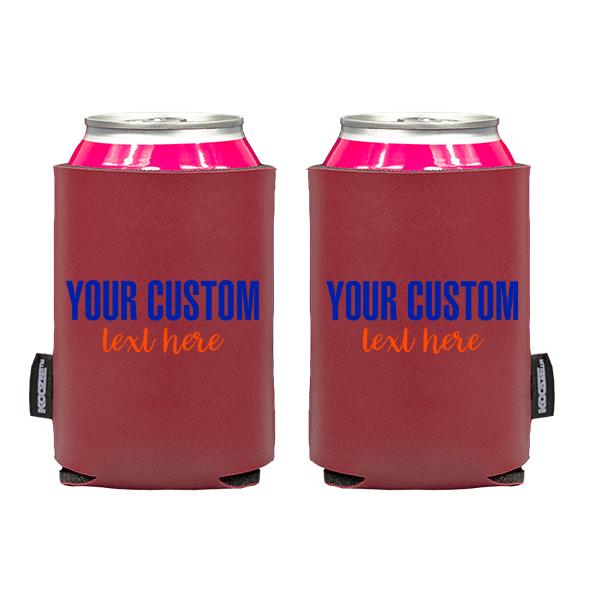 Koozie? Sport Custom Vegan Leather Can Cooler | 2 Sides